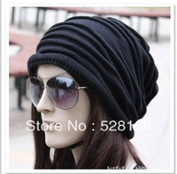 1pcs,Korean version of popular folding cap,Winter hat,Fashionable men and women knitting wool cap,3color,Free shipping.