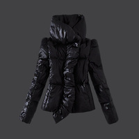 2013 autumn -summer winter Parkas short winter pattern jacket women black white orange yellow