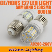 10X Led Light Bulb E27 5730 800lm AC 200-240V