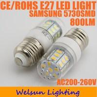 10X Led Light Bulb E27 5730 800lm AC 200-240V
