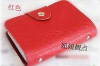 Lunch box genuine leather card holder credit card sets clip multi card holder lovers type card stock