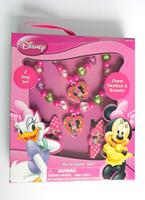 Minnie kids / children jewelry sets Fashion cute Beautiful flower bead cartoon animal prints heart charm necklace Set PAS-3003D