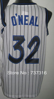 Cheap Sale,#32 Shaquille O'Neal white Men's  Basketball jerseys free shipping accept mix order