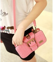 Mng fashion candy color women's handbag day clutch vintage knitted wallet clutch small bags