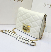 Normic fashion vintage bag fresh white all-match fashion plaid chain women's handbag messenger bag