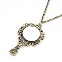 Hot Sale Harry Potter  Magic Mirror Antique Bronze Plated Alloy Pendant Necklace Wholesale
