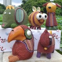 Zakka fashion american vintage resin yarn small animal decoration