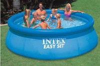thicken5.6mm wall high quality inflatable pool swimming pool ,dish family pool family set size:366*91 cm for 8-12 persons