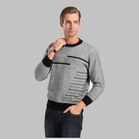 Male mink sweater o-neck marten velvet sweater casual men's clothing thermal sweater cashmere sweater