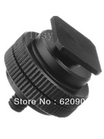 100% GUARANTEE free shipping to worldwide Male Accessory Shoe Adapter w/ 1/4-20 Stud Connector