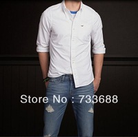 freeshipping Seagull hco 100%cotton padded long-sleeve ICONS, Oxford spinning leisure shirt