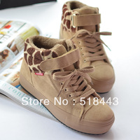 Free shipping Winter velutinous thermal liner elevator 3 women's high snow boots shoes hot-selling platform sneakers flat shoes