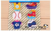 Free ship 1lot=6sets/Korean stationery kawaii cute Cartoon sport eraser set r/school supplies /students gift
