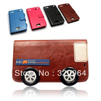 2013 newest bus leather protective case PU case lovely  personality for Samsung I9500 Galaxy S4 / Note II free shipping