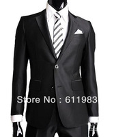 hot sale men's suits wedding suits +pants two button western style men's suits wedding groom tuxedos bridegroom groomsmen dress