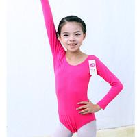 Child dance clothes long-sleeve gymnastics leotard female child clothing children's ballet leotard open-crotch
