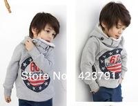 5PCS new dong with velvet letters style boy children hoodies cotton coat