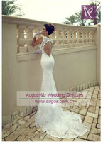 AWL3231 Sexy 2014 Mermaid Key Back Sheath Alibaba Wedding Dresses