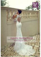 AWL3231 Sexy 2014 Mermaid Key Back Sheath Alibaba Wedding Dresses