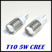 10pcs/lot free shipping car lights T10  w5w led ,car bulbs 194 led ,5w Cree high power car bulbs T10 led