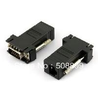 FreeShipping 10pcs VGA Extender Male to LAN CAT5 CAT6 RJ45 Network Cable Female Adapter Kit