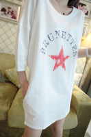 Dreamy w0177 8.25 vintage nostalgic vintage five-pointed star chromophous pullover sweatshirt
