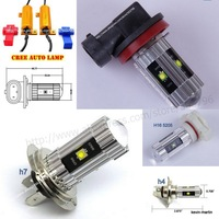 Free shipping External Lights H11 25W CREE LED Projector Bulb Fog/Driving Light DRL Error Free Led Resistors for TOYOTA Camry