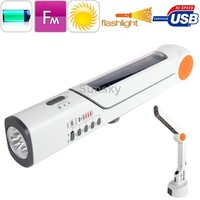 High Quality Crank Dynamo Multifunctional Handy FM Radio Solar Flashlight/Lamp with Mobile phone Charger Function