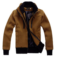 Free Shipping 2012 NEW Hot High Collar Men's Jackets ,Men's Sweatshirt,Dust Coat ,Hoodies Clothes, wholesale  W21