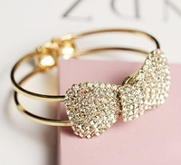 2013 Women Fashion Accessories Rhinestone Jewelry Full Rhinestone Brief Bangles Min Mix Order USD $10
