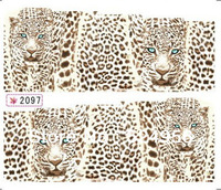 2013 Hot sale  free shipping  12sheets/lot water decals DIY Nail Sticker  The tiger peacock time series models