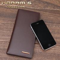2013 famous designer brands high quality male long design commercial colorful genuine leather patchwork handbag  wallet