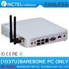 fanless mini pcs barebone with IVB platform Intel Celeron dual-core C1037U 1.8GHz CPU Integrated graphics HD Graphics L3 2MB