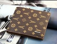 Fashion male cowhide wallet casual boys wallet short design wallet