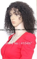 "HOT SALE Popular kinky curly lace wig 100% Indian Remy Human Hair Front Lace Wig 10""-24""  in stock"