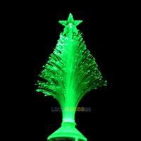 LS4G Christmas Decoration Fiber Optical LED Flower Light 3W Christmas Tree Stage Lamp Green