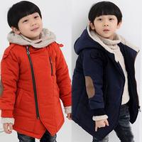 Children's clothing male child autumn and winter 2013 child cotton clothes oblique zipper small top male female child outerwear