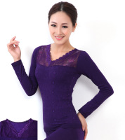 Autumn and winter V-neck jacquard beauty care body shaping underwear thermal underwear sets free shipping