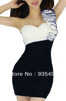 2013 Free shipping Sexy One-Shoulder Sexy Dress Clubwear Naughty Dress Baby Doll Stripper Wear Lingerie Dress