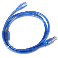 High speed 1.5 meters usb extension cable copper double a f transparent blue usb2.0 belt magnetic