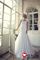 2014 Hot Sellig Sweetheart Lace Sexy Mermaid Vintage Elegant Wedding Bridal Dresses Free Shipping