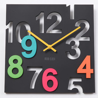 Fashion wall clock mute clock decoration cutout digital pocket watch clock