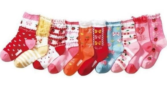20pairs/lot ruffle girls socks cotton children's sox students leisure socks free shipping(China (Mainland))
