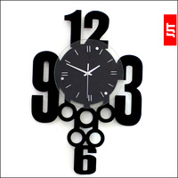 Luminousness fashion personality decoration wall clock Large silent watch clock