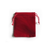 Free Shipping,100pcs/Lot 5.8x7cm Dark Red Retail Jewelry Velvet Gift Packaging Drawstring Bags & Pouches