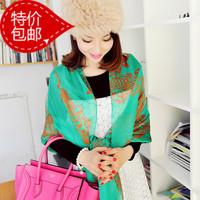 Ultralarge chiffon scarf silk scarf dual 2013 autumn cape female
