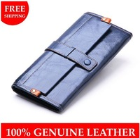Fashion brand cowhide wallets 2014 New arrival women's long design wallet female genuine leather Credit Card Holder for gift