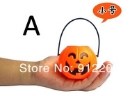 A small 7cm Halloween Supplies Decorative Items Portable Pumpkins Barrels
