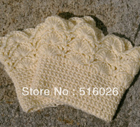 Wholesale 2pair/lot  Ivory Women Crochet Boot Socks, Leg Warmers, Boot Toppers boot Cuffs Winter Accessory