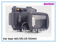 2013  Latest 40M Diving Housing Waterproof case Underwater Camera Case For Sony NEX-5R NEX-6 NEX-7 18-55mm Lens